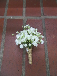 Baby's Breath Boutonniere from Carter's Flower Shop in Farmville, VA
