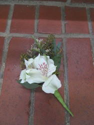 White Alstromeria Boutonniere from Carter's Flower Shop in Farmville, VA