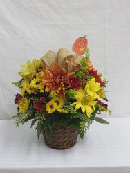 Fall Bushel from Carter's Flower Shop in Farmville, VA