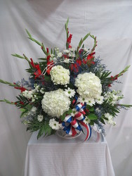 Patriotic Rememberance from Carter's Flower Shop in Farmville, VA