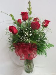 Half Dozen Red Roses from Carter's Flower Shop in Farmville, VA