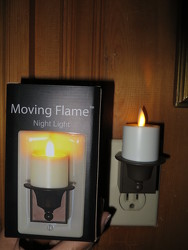 Liown Moving Flame Candle Night Lite from Carter's Flower Shop in Farmville, VA