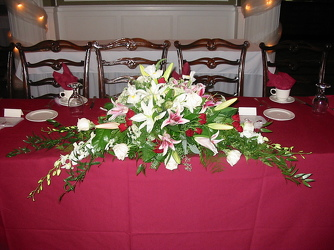 Head Table Arrangement from Carter's Flower Shop in Farmville, VA