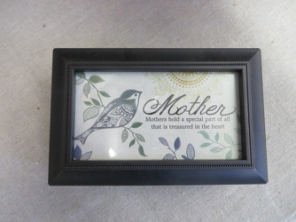 Mother Sentiment Photo Music Box from Carter's Flower Shop in Farmville, VA