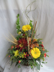 Fall Wicker Basket from Carter's Flower Shop in Farmville, VA