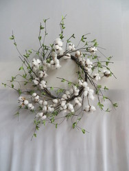 Cotton Wreath from Carter's Flower Shop in Farmville, VA