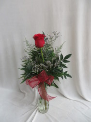 Single Rose Bud Vase from Carter's Flower Shop in Farmville, VA