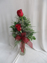 Double Rose Bud Vase from Carter's Flower Shop in Farmville, VA