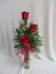 Triple Rose Bud Vase from Carter's Flower Shop in Farmville, VA