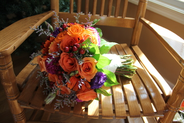 Bridal Bouquet Vibrant Burst from Carter's Flower Shop in Farmville, VA