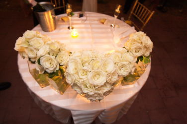Bridal Bouquet Table Decor from Carter's Flower Shop in Farmville, VA