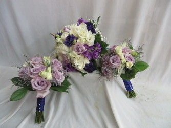 Bride and Bride's Maid's Bouquets A6 from Carter's Flower Shop in Farmville, VA