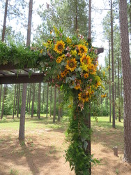 J Wedding Ceremony Arbor  from Carter's Flower Shop in Farmville, VA