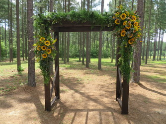 J Wedding Ceremony Arbor 2 from Carter's Flower Shop in Farmville, VA