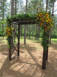 J wedding Ceremony Arbor 3 from Carter's Flower Shop in Farmville, VA