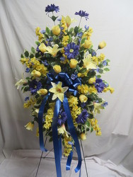 Blue and Yellow Spray from Carter's Flower Shop in Farmville, VA