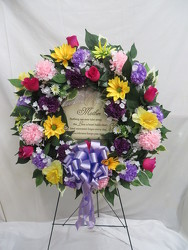 Wreath with Mother Stone from Carter's Flower Shop in Farmville, VA