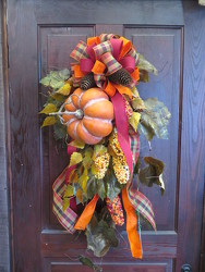 Fall Swag 4 from Carter's Flower Shop in Farmville, VA