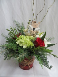 Foxy Christmas from Carter's Flower Shop in Farmville, VA