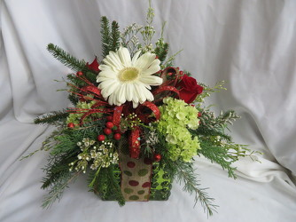 Christmas Present from Carter's Flower Shop in Farmville, VA
