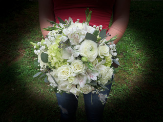 Bridal Bouquet Mixed All White from Carter's Flower Shop in Farmville, VA